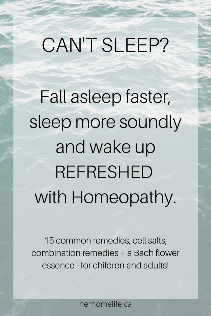 15 single remedies, cell salts, combination remedies and a Bach flower essence that have the power to help you sleep easier, deeper and wake more refreshed.